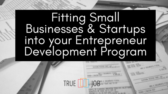 Fitting Small Businesses & Startups into your Entrepreneur Development Program